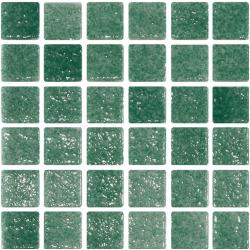 Mosaique verte 5x5 sur trame 30.7x30.7 REF.503 A-11 - 2 m² ASDC