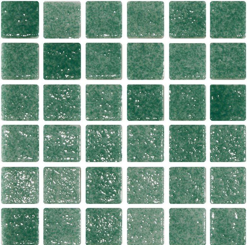 Mosaique verte 5x5 sur trame 30.7x30.7 REF.503 A-11 - 2 m² - zoom