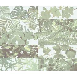 Faience murale brillante décor mural TROPICAL MIX JUNGLE 10x30 cm - 1,02m² Ribesalbes