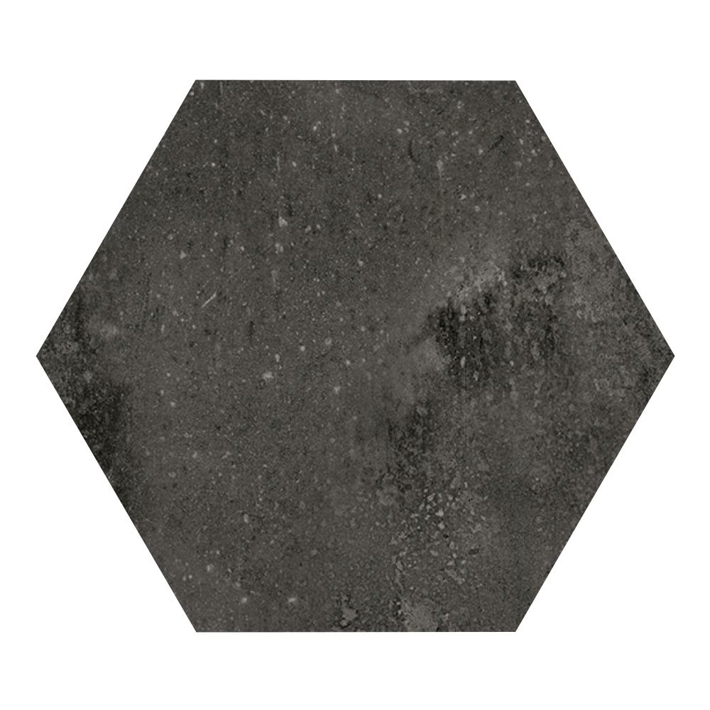 Carrelage hexagonal noir 29.2x25.4cm URBAN HEXAGON DARK 23515 R9 - 1m² - zoom