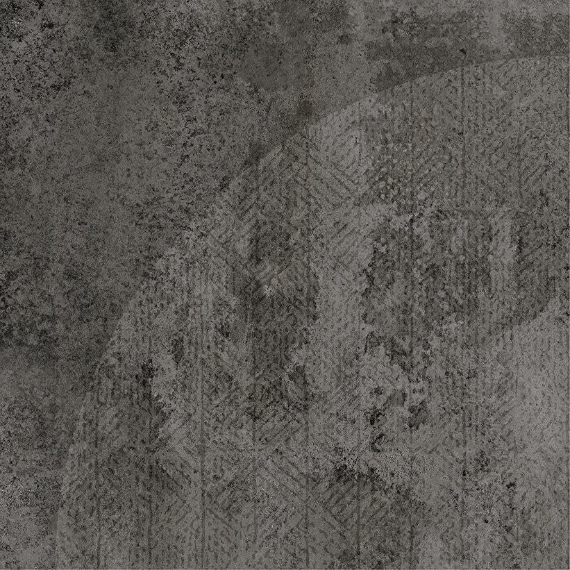 Carrelage imitation ciment décor noir 20x20cm URBAN ARCO DARK 23588 R9 - 1m² - zoom