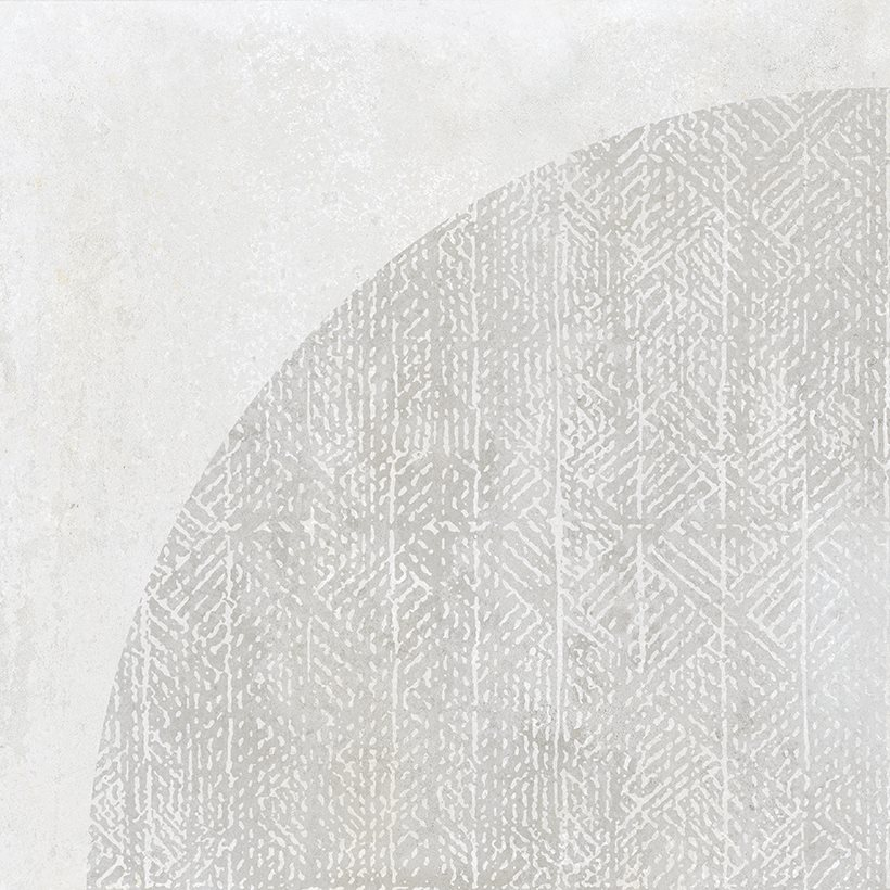 Carrelage imitation ciment décor blanc 20x20cm URBAN ARCO LIGHT 23528 R9 - 1m² - zoom