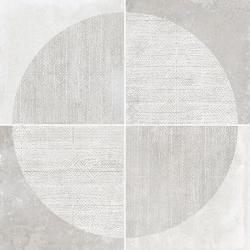 Carrelage imitation ciment décor blanc 20x20cm URBAN ARCO LIGHT 23528 R9 - 1m² Equipe