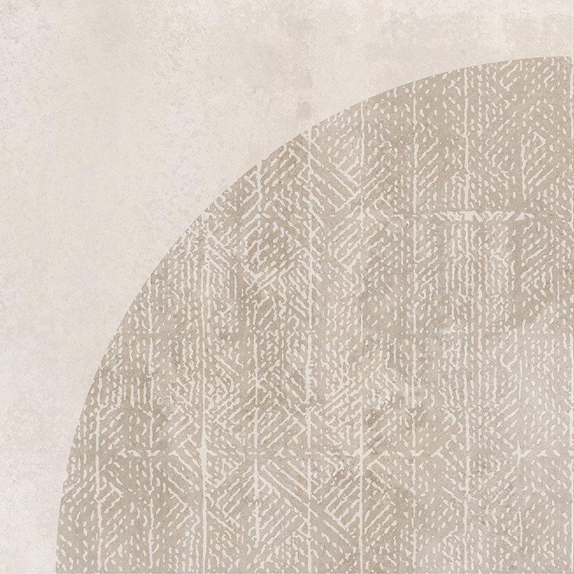 Carrelage imitation ciment décor beige 20x20cm URBAN ARCO NATURAL 23585 R9 - 1m² - zoom