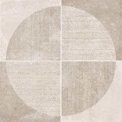 Carrelage imitation ciment décor beige 20x20cm URBAN ARCO NATURAL 23585 R9 - 1m² Equipe
