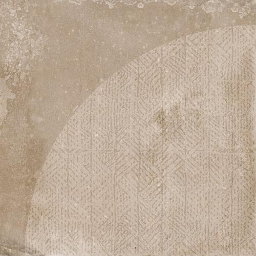 Carrelage imitation ciment décor beige marron 20x20cm URBAN ARCO NUT 23586 R9 - 1m² Equipe