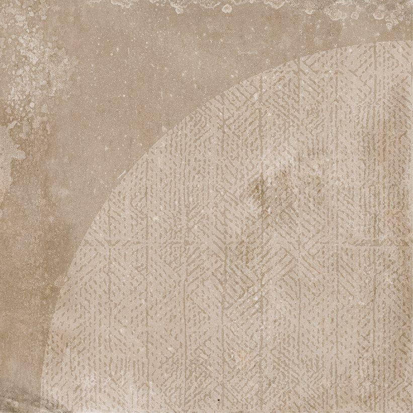 Carrelage imitation ciment décor beige marron 20x20cm URBAN ARCO NUT 23586 R9 - 1m² - zoom