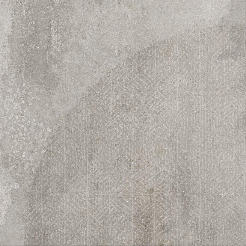 Carrelage imitation ciment décor gris 20x20cm URBAN ARCO SILVER 23587 R9 - 1m² - zoom