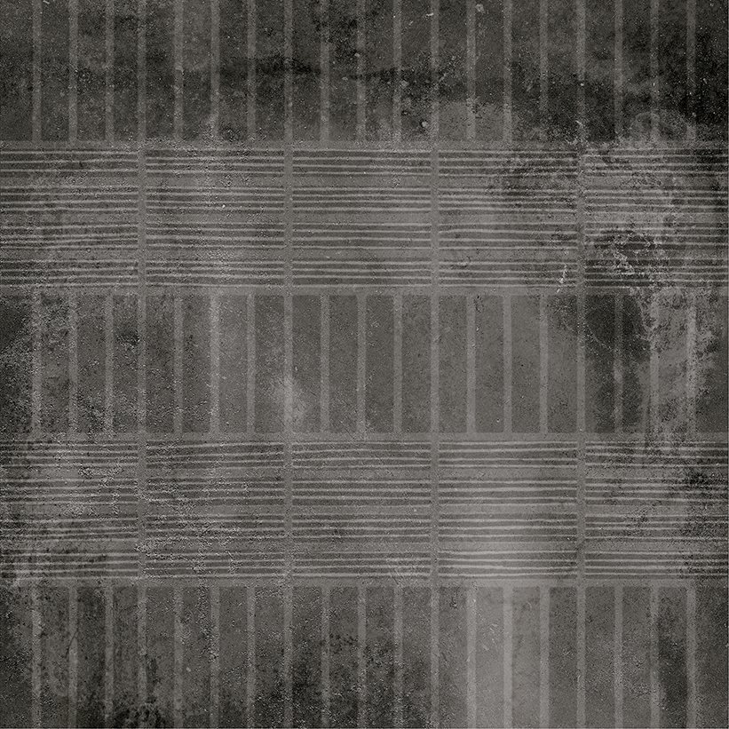 Carrelage imitation ciment décor noir 20x20cm URBAN HANDMADE DARK 23596 R9 - 1m² - zoom