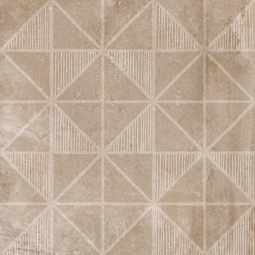 Carrelage imitation ciment décor beige marron 20x20cm URBAN HANDMADE NUT 23594 R9 - 1m² - zoom
