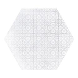 Carrelage hexagonal décor blanc 29.2x25.4cm URBAN HEXAGON MÉLANGE LIGHT 23516 R9 - 1m² Equipe