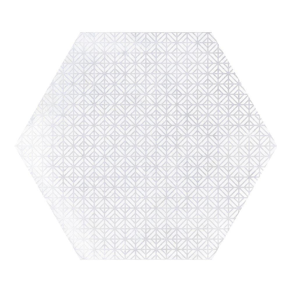 Carrelage hexagonal décor blanc 29.2x25.4cm URBAN HEXAGON MÉLANGE LIGHT 23516 R9 - 1m² - zoom
