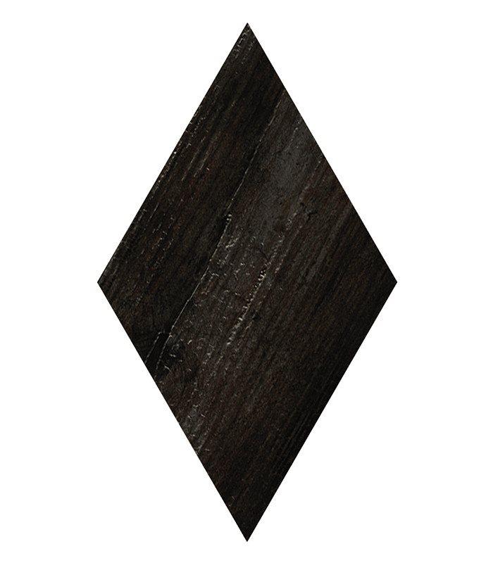 Carrelage losange imitation bois rect. 22x38cm ADAMANT OKINAWA CARBON - 0.504m² - zoom