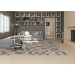 Carrelage imitation ciment léger style bohême SYRNA 30x60 - 1.26m² Vives Azulejos y Gres
