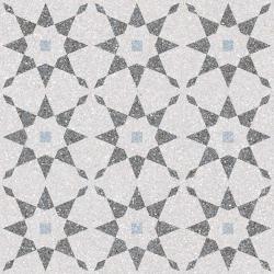 Carrelage à décors étoiles gris bleu rectifié AVENTINO-R Humo 29x29 - 0.94m² Vives Azulejos y Gres