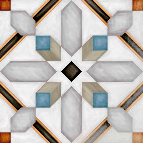 Carrelage imitation ciment 20x20 cm Demel - 1m² - zoom