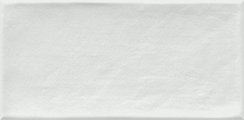 Faience murale blanche patinée ETNIA 10x20cm - 1.36m² - zoom