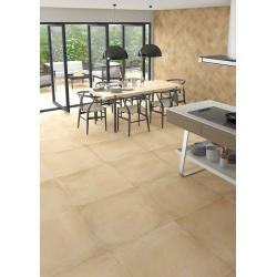 Carrelage beige mat 80x80cm LAVERTON-R BEIGE - 1.28m² Vives Azulejos y Gres