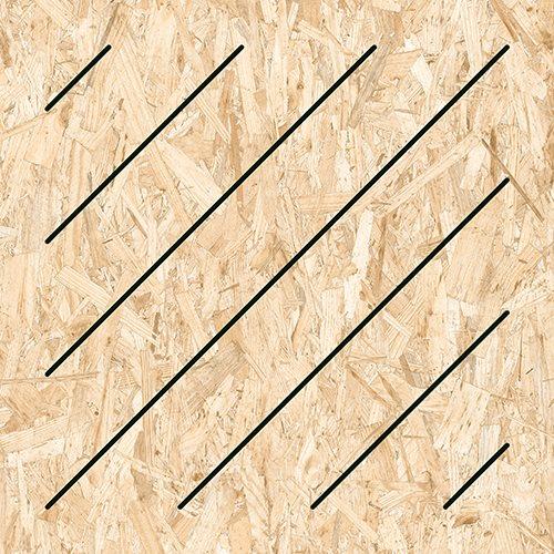 Carrelage imitation bois aggloméré MASAI-R Grafito 59.3X59.3 cm - 1.06 m² - zoom