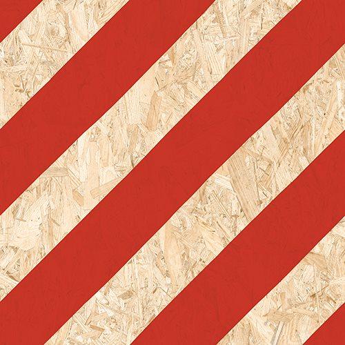 Carrelage imitation bois aggloméré NENETS Rouge 59.3X59.3 cm - 1.06 m² - zoom