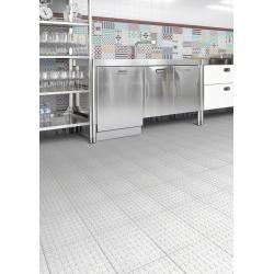 Carrelage imitation ciment 20x20 cm style lego NOGAL anti-dérapant R11 - 1m² Vives Azulejos y Gres