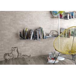 Parement mural briquettes original motif chat Marlon Nuney 20x50cm - 4 pièces Vives Azulejos y Gres