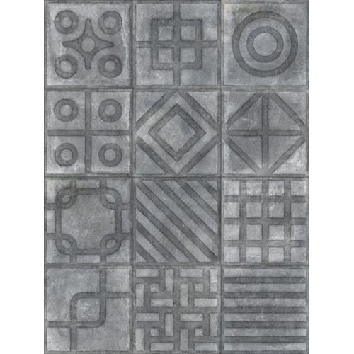 Carrelage imitation ciment 20x20 cm Paulista Grafito anti-dérapant R13 - 1m² Vives Azulejos y Gres