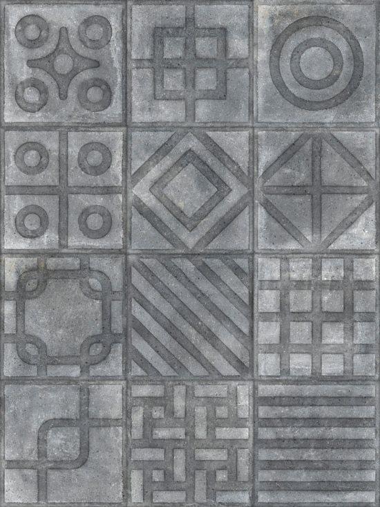 Carrelage imitation ciment 20x20 cm Paulista Grafito anti-dérapant R13 - 1m² - zoom