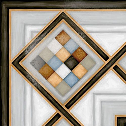 Carrelage d'angle style ciment 20x20 cm POMBO-3 - unité - zoom