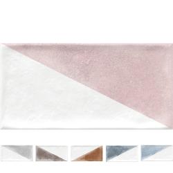 Faience murale colorée patinée triangles pastels RABARI 10x20cm - 1.36m² Vives Azulejos y Gres