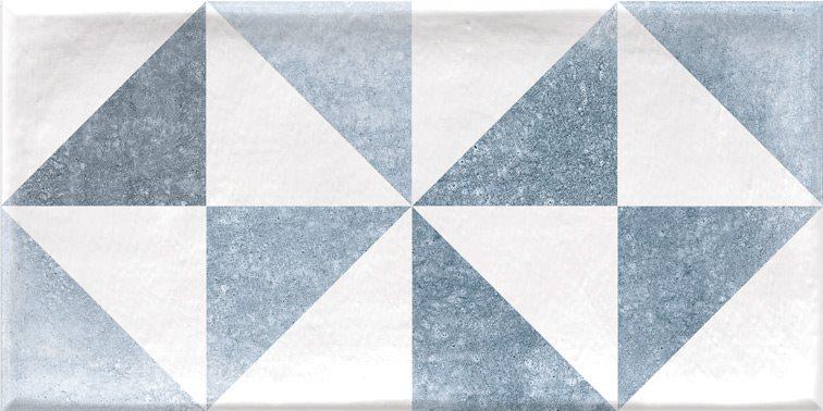 Faience murale scandinave patinée triangles pastels THAI 10x20cm - 1.36m² - zoom