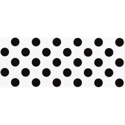 Faience murale blanche à pois noirs RIMINI 20x50cm - 1m² Vives Azulejos y Gres