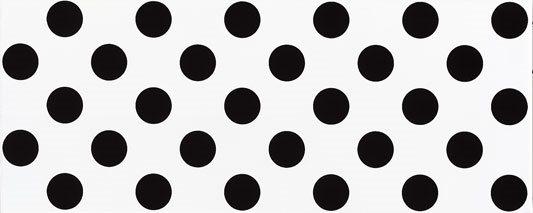 Faience murale blanche à pois noirs RIMINI 20x50cm - 1m² - zoom