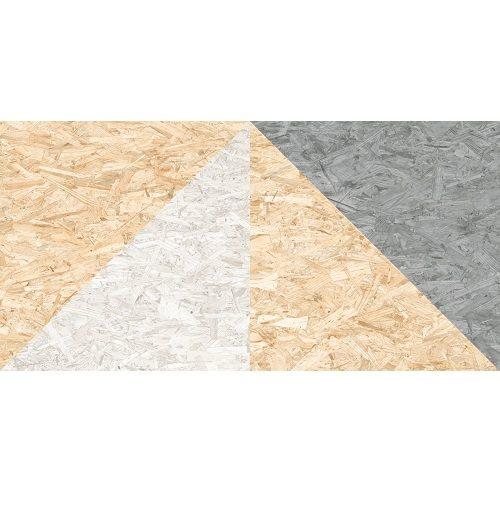 Carrelage rectifié imitation OSB bois aggloméré TELEGU-R Natural Multicolor 59.3X119.3 cm - 1.42 m² - zoom