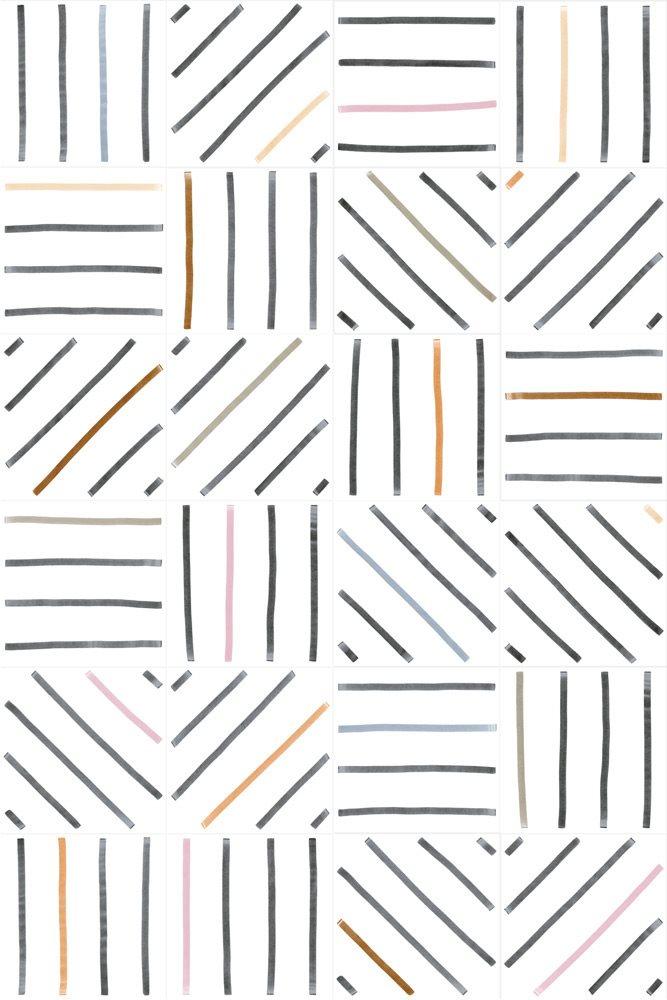 Carrelage géométrique TIEBEL décoré 20x20 - 1m² - zoom