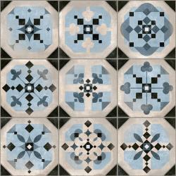 Carrelage imitation cabochons décoré bleu 31x31 cm STANLEY - 1m² Vives Azulejos y Gres