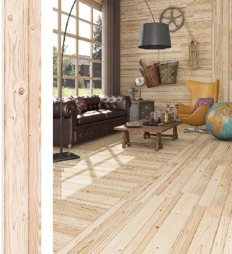 Carrelage imitation parquet naturel FREMONT Rectifié 19.2X119.3 cm - 0.916 m² - zoom