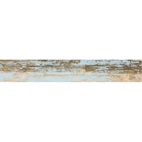 Carrelage imitation parquet bleu rectifié vieilli mat YOGO CIELO 14.4x89.3 - 1.29m² Vives Azulejos y Gres