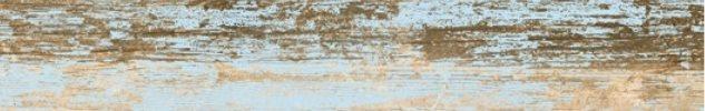 Carrelage imitation parquet bleu rectifié vieilli mat YOGO CIELO 14.4x89.3 - 1.29m² - zoom