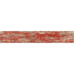 Carrelage imitation parquet rouge rectifié vieilli mat YUGO Volcan 14.4x89.3 - 1.29m² Vives Azulejos y Gres