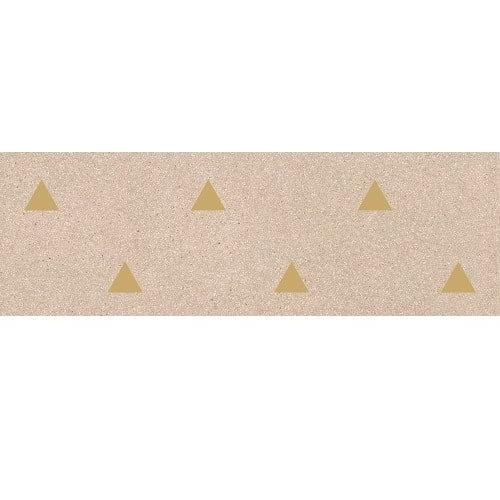 Faience murale beige motif triangle or 32x99cm BARDOT-R Beige - 1 Vives Azulejos y Gres
