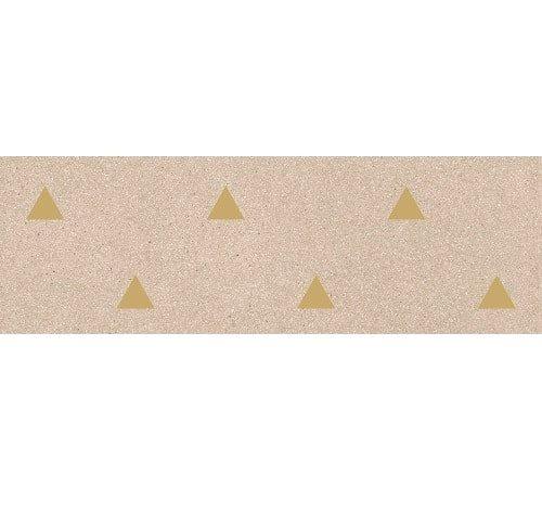 Faience murale beige motif triangle or 32x99cm BARDOT-R Beige - 1 - zoom
