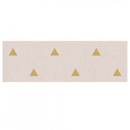 Faience murale creme motif triangle or 32x99cm BARDOT-R Crema - 1 Vives Azulejos y Gres