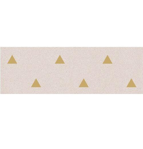 Faience murale creme motif triangle or 32x99cm BARDOT-R Crema - 1 - zoom