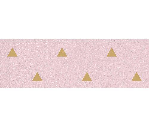 Faience murale rose motif triangle or 32x99cm BARDOT-R Rosa - 1 - zoom