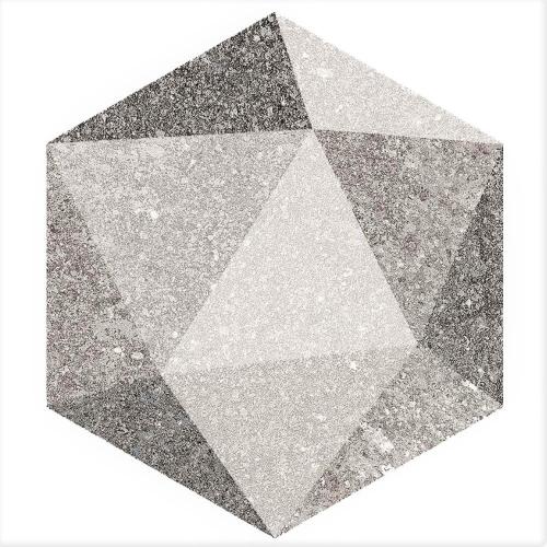 Carrelage hexagonal antidérapant 23x26.6cm ASTON HEXAGONO LUTON MULTICOLOR - 0.504m² Vives Azulejos y Gres