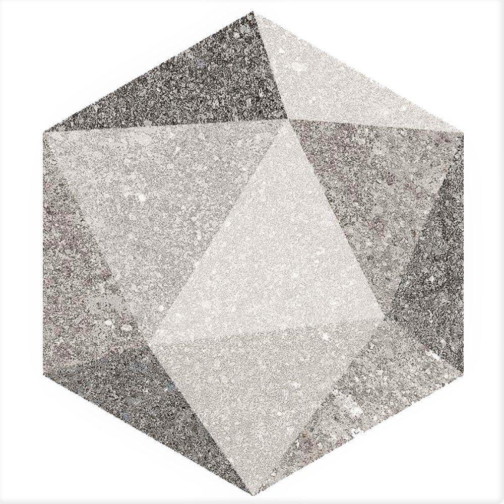 Carrelage hexagonal antidérapant 23x26.6cm ASTON HEXAGONO LUTON MULTICOLOR - 0.504m² - zoom