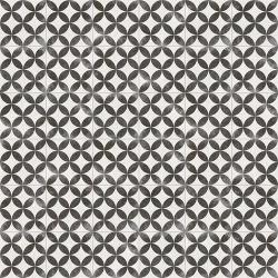 Carrelage style ancien Quatre-feuilles 20x20 cm KERALA Noir - 1m² Vives Azulejos y Gres