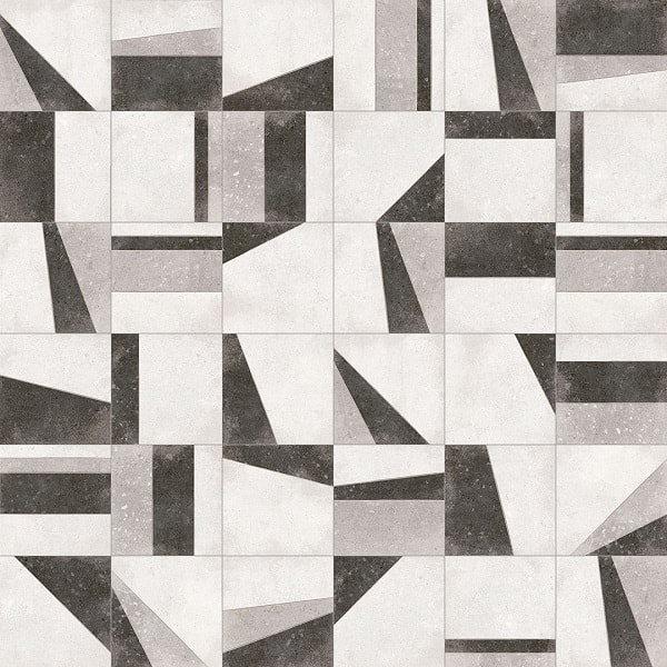Carrelage motifs anciens 20x20 cm Osaka Blanco - 1m² - zoom