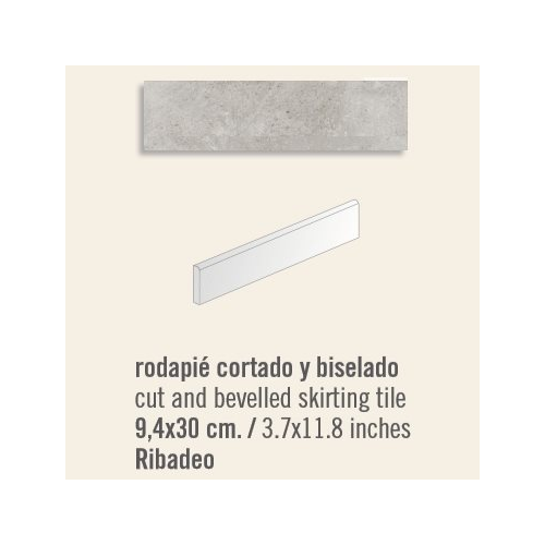 Plinthe intérieur Ribadeo 9.4x30 cm - 13.50mL Vives Azulejos y Gres